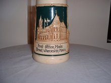 1930's German made porcelain stein for the Worcester, Massachusetts Post Office