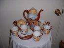 1950's vintage handpainted 14pc Japanese tea set