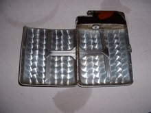 1940's original vintage Marathon brown enamel ciigarette case