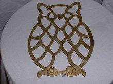 Vintage Metal Owl kitchendining  trivet
