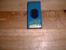 1946 Vintage Gillette Blue Blade razor dispenser 20 blades