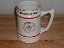 1948 Plattsburgh State University of New York large coffee mug
