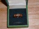 Vintage 9 karat .375 Irish Celtic Band Ring 0.625 inch diameter