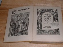 1926 Scribner's hardcover The Story of the Grail and the Passing of Arthur by Howard Pyle 258 pages