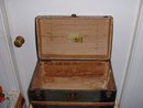 1880's Antique Tin and Wood Dome Top Doll Trunk