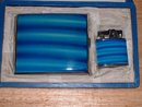 1951 New in Box Japanese hand enamel  Memory of Okinawa matching cigarette case and lighter