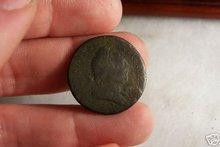 1773 US Colonial Virginia Halfpenny Very Fine w corrosion 2007 Redbook $240