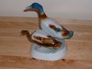Newj Zsolnay Hungary fine porcelain geese pair figurine