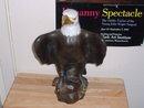Vintage 15 inch tall Bald Eagle porcelain figure by Anthony 103 USA