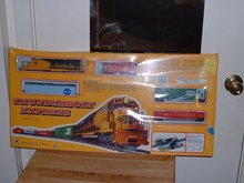 New in original box Mehano Thunderbolt Express model T340 HO railroad set complete