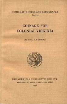 Coinage of Colonial Virginia by Eric P. Newman