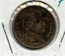 1901-P US Barber Silver Dime Choice BU original toned