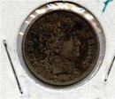 1901-P US Barber Silver Dime Choice BU original toned