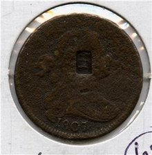 1807 US Draped Bust Large Cent Countermark James Boyce