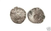 1640 US French Colonial Henry II Silver Billon Douzain