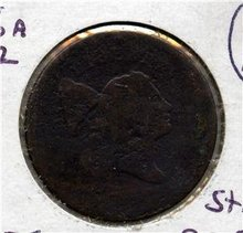 1795 US Half Cent C-6.A Struck over cutdown 95 Talbot G