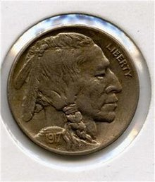 1917-D US Buffalo Nickel GEM BU Natural Uncleaned PQ
