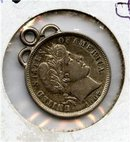 1906-P US Barber Dime Gem BU looped lite multihued tone
