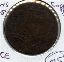 1787 US Colonial New Jersey Copper Maris 63-s Fine PQ