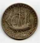 1920 USA Pilgrim 1/2 Dollar $ Silber Gedenkmuenzen vz