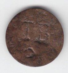 1789 Colonial 2Sous Countermark ToB Tobago unlist Vlack
