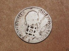 1841 Colonial Cuba Countermark1820 Spain 2Reales Silver