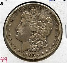 1903-S US Morgan Silver $ EF Vam-3 Rarity-3 semi-KEY