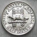 USA Half Dollar 1/2$ Silber 1936 Wisconsin Dachs STLG
