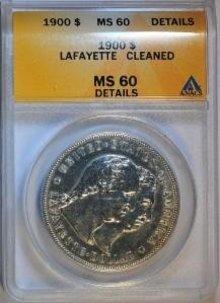 USA 1 Dollar 1900 Washington Lafayette ANACS MS60 STGL