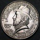 USA Half Dollar 1/2$ Silber 1937 Roanoke STEMPELGLANZ