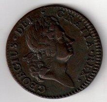 1723 Hibernia Halfpenny 2nd Prorotype AU/EF