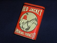 Rare Red Jacket Tobacco Tin