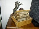 Table Top  Ceder Cigarette Box/Calendar/Statue