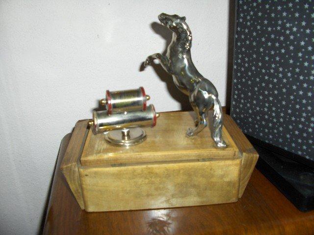 Table Top  Ceder Cigarette Box/Calendar/Statue