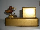 Vintage Metal Cigarette Display  Box With Bird.