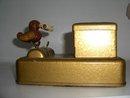 Vintage Metal Cigarette Display  Box With Bird.