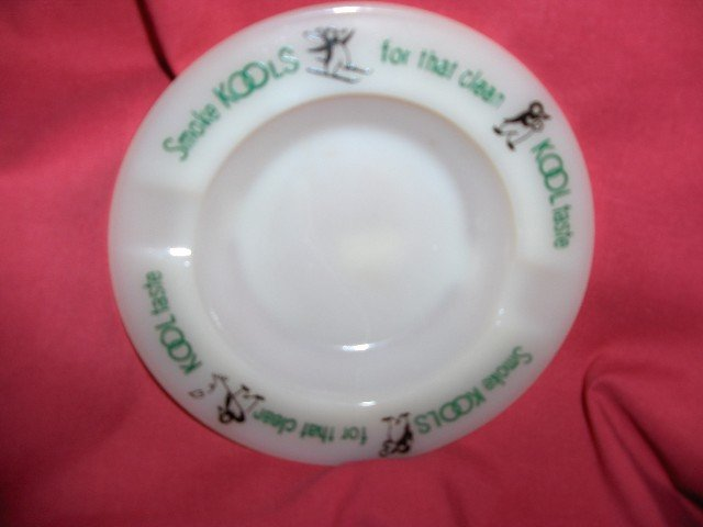 Kool Milk Glass Ashtray-Prior 1960