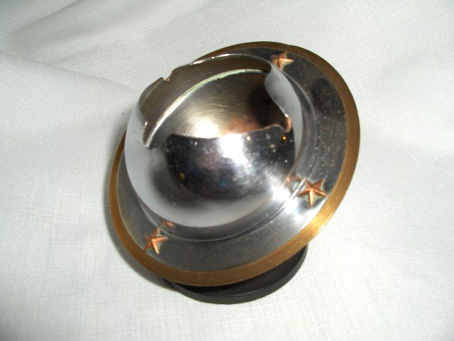 Art Deco Saturn-  Chrome , Brass & Bakelite