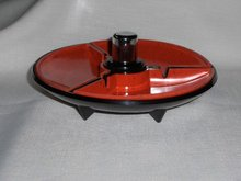 Art Deco Two Tone Ashtray/Lighter Combo