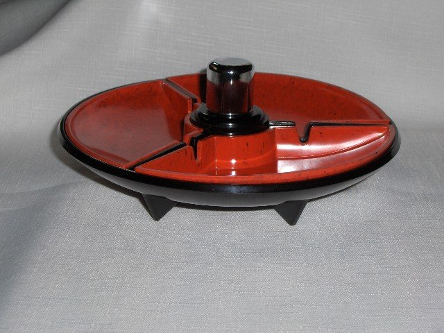 Art Deco Two Tone Ashtray/Lighter Combo
