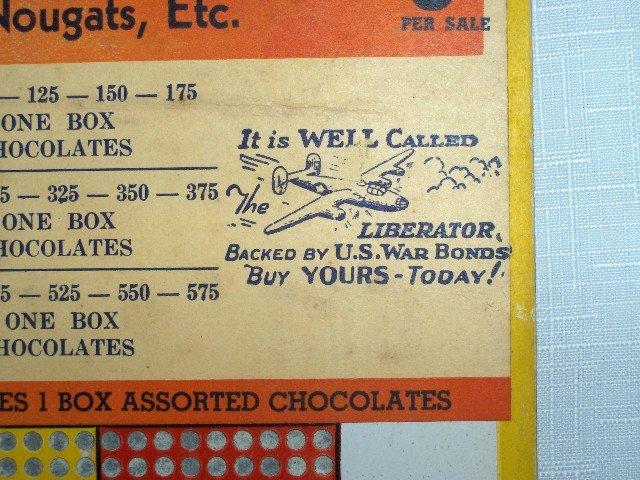 WWII War Bonds Stamped , Assorted Chocolates