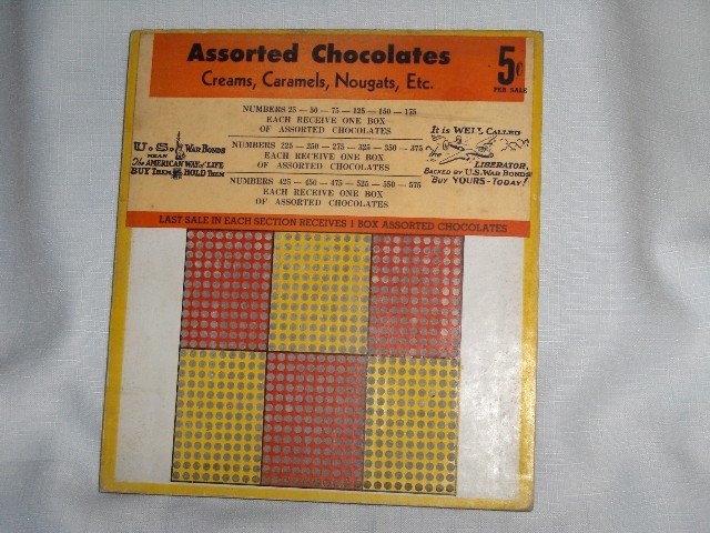 WWII War Bonds Stamped , Assorted Chocolates