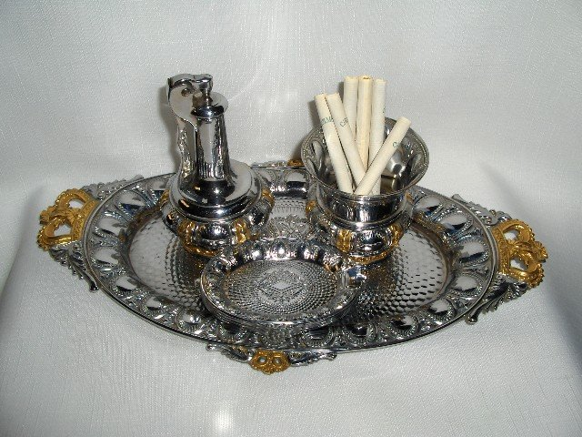 7pc. Chrome/Gold  Smoke Set