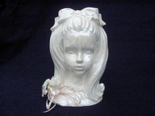 ENESCO LADY HEAD VASE