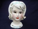 LEFTON LADY HEAD VASE