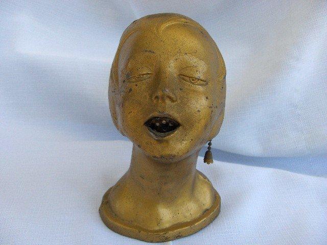 Deco Woman's Head, Hot Lips Cigar/Cigarette