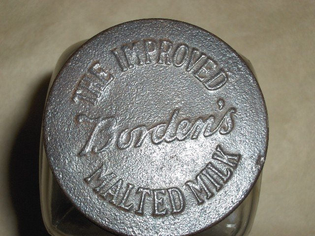 Borden's Malted Milk Glass Jar