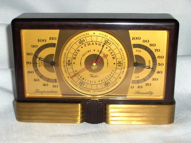 Art Deco 3 in 1 Barometer, Thermometer,