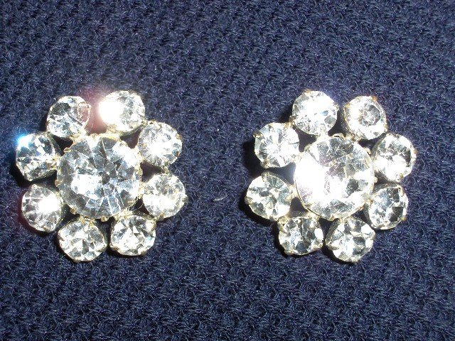 Pair of Rhinestone Buttons