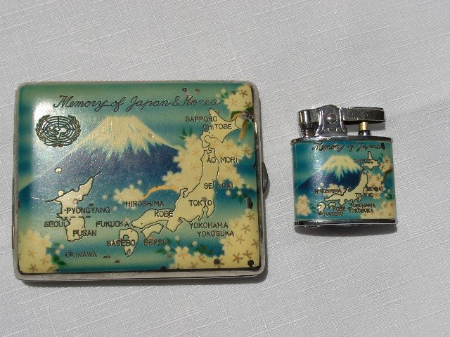 Memory of Japan & Korea  Lighter & Case